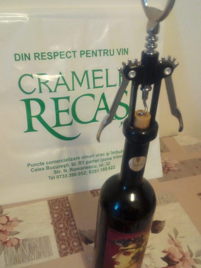 Degustare vin imbuteliat Cramele Recas Craiova